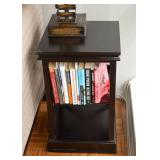 SOLD--LOT #114, Contemporary Side / End Table with Shelves, $15