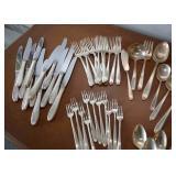 SOLD--LOT #139, Alvin Sterling Silver Flatware Set, $1500, (71 Pieces)