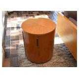 SOLD--Lot #103, Mid Century Round Side Table / Cabinet, $200