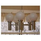 BUY IT NOW!  LOT #202, Vintage Mid Century Chrome 5-Globe Chandelier, $300