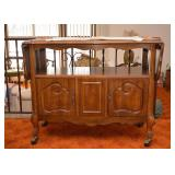SOLD--LOT #214, Vintage Dining Cart with Drop Leaves, $60