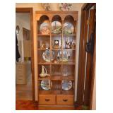 BUY IT NOW!  LOT #224, Vintage Tall Wood Display Shelf Unit with 2 Lower Drawers, $100