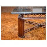 BUY IT NOW!  LOT #228, Contemporary Glass Top Cocktail / Coffee Table, $65