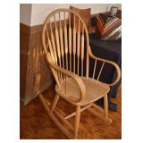 SOLD!  LOT #230, Light Wood Tone Rocking Chair, $40