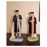 "BUY IT NOW!  LOT #231 & #232, Royal Doulton ""The Graduate"" Figurines, $15 EACH"