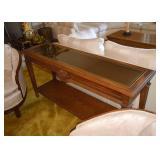 BUY IT NOW!  LOT #410, Vintage Oak Console / Sofa Table, $75