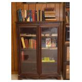 BUY IT NOW--LOT #422, Bookcase with Double Glass Doors, $150