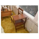 SOLD--LOT #428, Vintage Telephone Table / Gossip Bench, $60