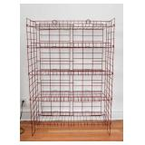 "Red Wire Display Shelving Unit (Approx. 37"" L x 56"" H x 16"" Deep)"