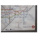 "Framed London Underground Map / Poster (Approx. 38.5"" L x 26.5"" H including frame)"