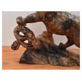 "Chinese Hard Stone Tiger Carving (Approx. 12"" L x 11"" H)"