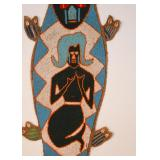 "African Beaded Wall Hanging with Mermaid (Approx. 48"" L)"