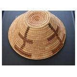 "Hand Woven Coil Basket (Approx. 9.75"" Diameter at top)"