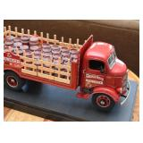 Budweiser Beer Truck with Barrels Model with Display Case