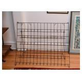 Vintage Collapsible Wire Magazine Rack