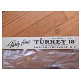 "Vintage ""Party Time"" Turkey Decoration, Still in Packaging (Handmade in Denmark)"