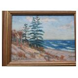 Small Framed Landscape Painting, Signed