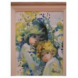 Vintage Framed Painting, Signed