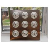 World Cities Time Clocks / Wall Hanging