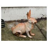 Cast Iron Rabbit Garden Statue