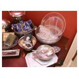 Glassware, Silver Plate, Pewter, etc.