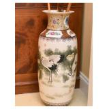 Chinese Floor Vase (Cranes)