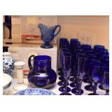 Cobalt Blue Stemware, Pitchers