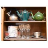 Tea Kettle, Teapots, Stemware, Etc.