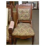 Victorian Side Chairs (2 Matching Side Chairs & 1 Armchair)