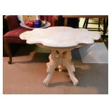 Marble Top Table (White Painted Base)