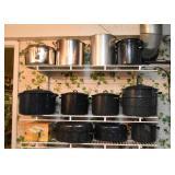 Stock Pots, Black Graniteware / Enamelware Pots & Pans