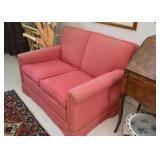 Vintage Pink Loveseat / 2-Seat Sofa