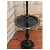 Cool Vintage Metal Floor Lamp with Table & Cane Shade