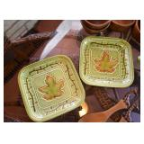 Pair of Maple Leaf Plates