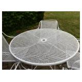 White Painted Outdoor / Garden / Patio Dining Set with 4 Chairs