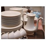 White Dinnerware Set / Dishes (Unmarked)