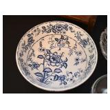 Vintage Blue & White Serving Bowl
