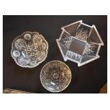 Crystal & Glassware (Vases, Pitchers, Dishes, Candlesticks, Bowls, Platters, Plates, Etc.)