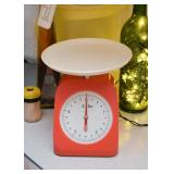 Vintage Orange Kitchen Scale (Plastic)