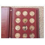 Solid Bronze Proof Set - First Edition Commemorative Coins - America in Space