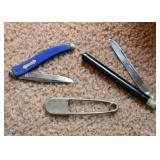 Pocket Knife, Letter Opener, Swim Locker Safety Pin