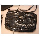 Black Metal Mesh Evening Bag