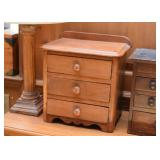 Primitive Wood Chest with Drawers