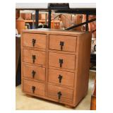 Primitive Wood Chest with Drawers / Apothecary Cabinet
