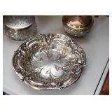 Silverplate Repousse Bowl