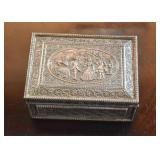 Silverplate Box with Intricate Design
