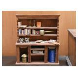 Miniature Wood Display Hutch / Dollhouse