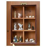 Miniatures & Figurines (Asian & Others), Wooden Curio Wall Shelf