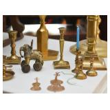 Brass Candlesticks / Candle Holders, Figurines