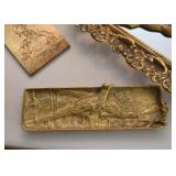 Brass Tray with Pheasants